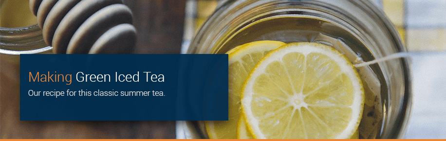 Making Green Iced Tea